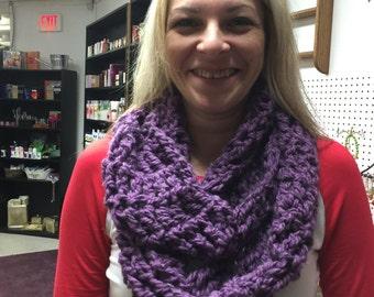 Purple alpaca blend infinity scarf