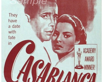 CB02 Vintage Casablanca Movie Poster Print
