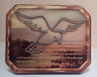 Bible Verse Plaque Matthew 3:16