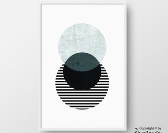 Scandinavian Poster, Printable Geometric Art, Circle Scandinavian Print, Minimal Print, Best Selling Art, Nordic Poster, INSTANT DOWNLOAD