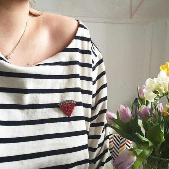 Pretty pin watermelon - Hand Made - La Rochelle