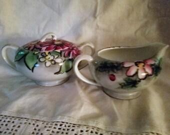 Rossetti 'Dawn & Dusk' Sugar Bowl and Creamer