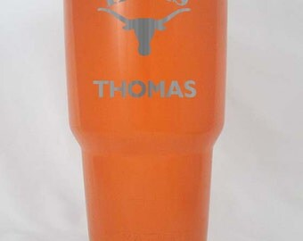 University of Texas Longhorns 20 30 oz yeti HOGG custom personalized great gift