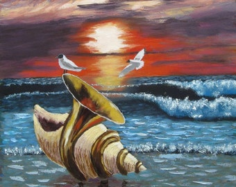 "Oil painting"" Music of the sea"""