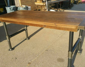 Reclaimed Barnwood Urban Industrial Table