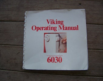 Husqvarna Viking sewing machine operating manual 6030