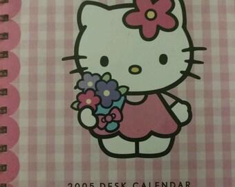 Blank 2005 Hello Kitty Diary Desk Calendar