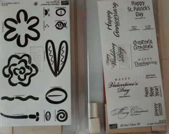 Two New Rubber stamp sets Stampin' Up! A Year of Cheer III & Springtime Fun