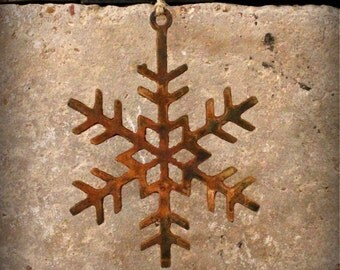 """Rustic Metal Snowflake 7"""""""