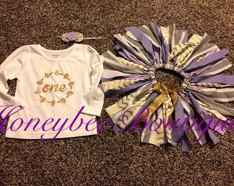 Lavender & Gold Birthday Outfit