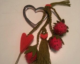 key rings, Strawberry