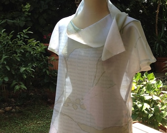 High, hand-made, made in France, made in France, voile, cotton, creation, Top Hibiscus