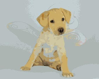 Custom and Personalized Water Color Pet Portrait Poster Print
