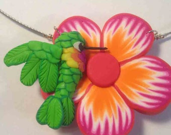 Polymer Clay Hummingbird Necklace