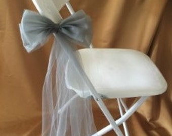 FABRIC BOW SASH  Grey/Pewter/Silver  Sold In Sets Of 6 Great For Giftware
