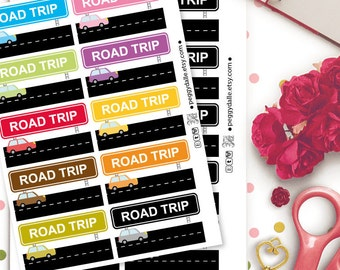 Road Trip Planner Stickers | Cars | Day Off | Camping
