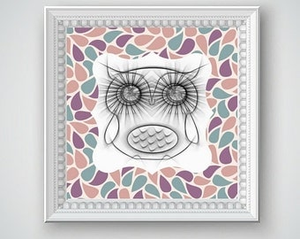 Owl Art, Owl Wall Decor, Baby Nursery Ideas, Nursery Art, Owl Pictures, Owl Images, Bird Art, Nursery Decor,  Printable Wall Decor