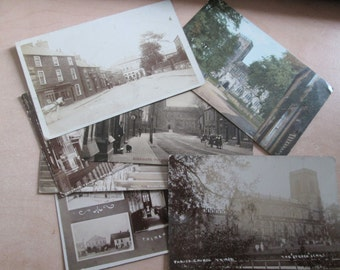 Seven (7) Vintage early 20th century postcards of THIRSK, YORKSHIRE, ENGLAND