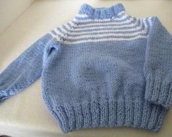 blue and white stripe toddler sweater
