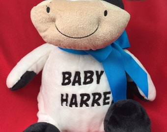 18 inch personalized stuffed cow