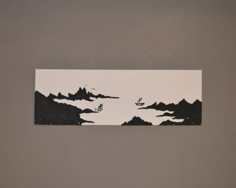 SK# | 20 x 60 cm. Original paintings | Acrylic | Art | Unique | autographed