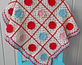 Baby blanket vintage style