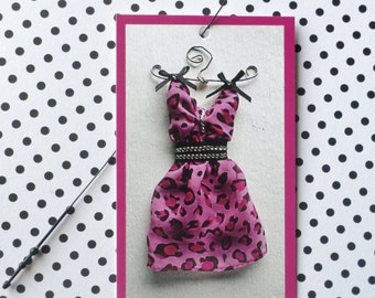 100 FASHION CLOTHING/ACCESSORIES Boutique Price Tags Dark Pink/Black Animal Print Dress with  Plastic Loop Pins at Etsy