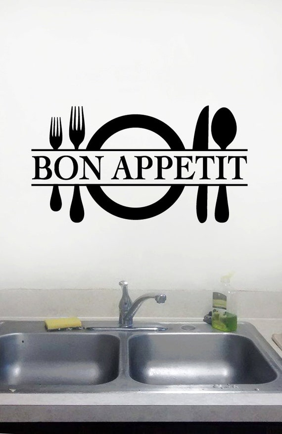 bon appetit kitchen wall decalbon appetit by
