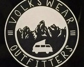Volkswear Outfitters window decal bumper sticker.  4 inches.