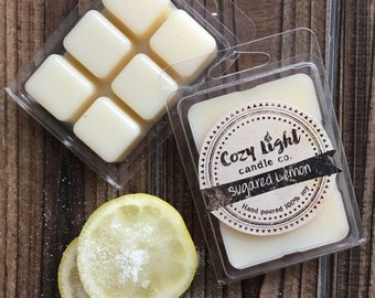 Sugared Lemon Soy Tart Wax Melts | Hand Poured | Clamshell Melts