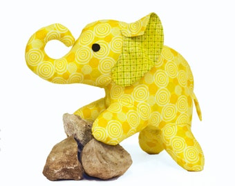 Cute Hand Stitched Baby Elephant Plush