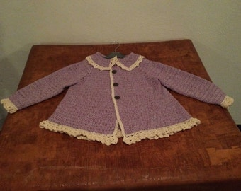 Crochet  jacket / dress size  2 years