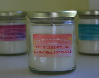 All Natural Handpoured Essential Oil Soy Candles
