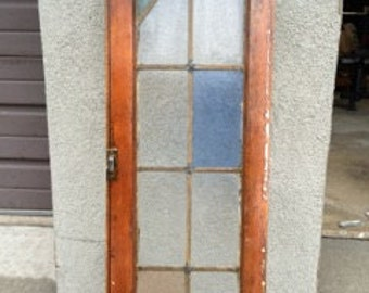 Vintage 8 pane Stained glass window
