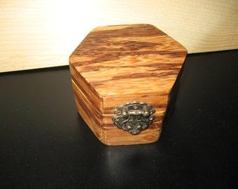 Zebra Wood Keepsake box