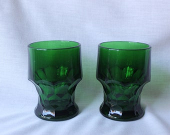 Forest Green Glass Tumblers, #441