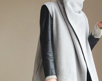 Combined knitted reversible coat