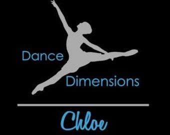 DECAL Custom Dance  Cheer Drillteam Team