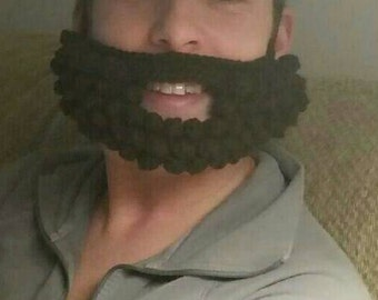 Crochet fake beard