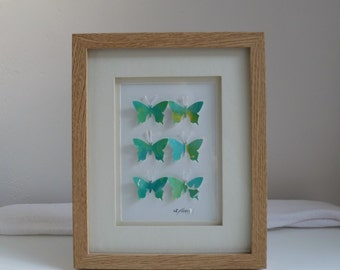 3D Butterfly Framed Art (Green)