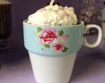 Hot Chocolate & Cream With Bubblegum Marshmallows Scented Candle