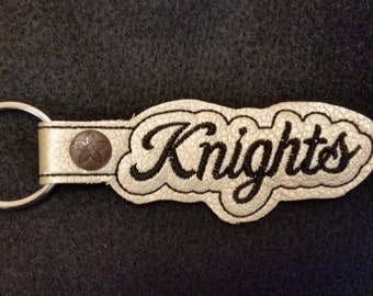 Knights Key Chain - Go Knights - UCF Knights - East Ridge High School Knights  - Knights Luggage Tag - Graduation Gift