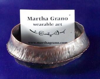 Fold-Formed Copper Cuff Bracelet