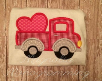Valentine's Day Appliqued Truck