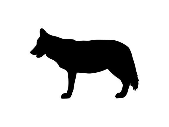 Silueta Lobo: Gray Wolf Decal Outdoor Vinyl Sticker Silhouette Wolf Sticker