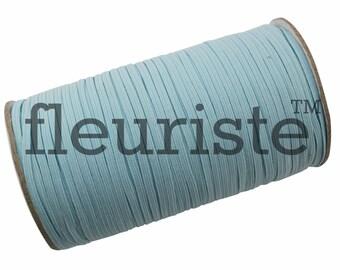 Skinny Elastic, Thin Elastic, 1/8 Elastic, Elastic By The Yard, Fold Over Elastic, Elastic, Wholesale Elastic, Stretch Elastic, Pale Aqua