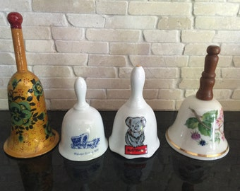 Gorgeous vintage collectible bells (all 4)