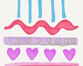 Watercolour birthday cake card