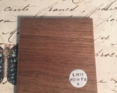 Personalized Walnut wood drink coasters - Set of Four