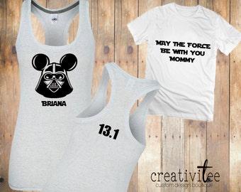 Star Wars Disney Marathon Shirts